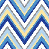 Caden Lane Ikat Collection Changing Pad Cover, Chevron Blue by