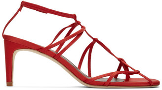 Tibi Red Satin Gavin Sandals