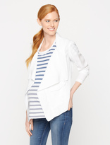 A Pea in the Pod Front Pocket Cotton Woven Maternity Jacket