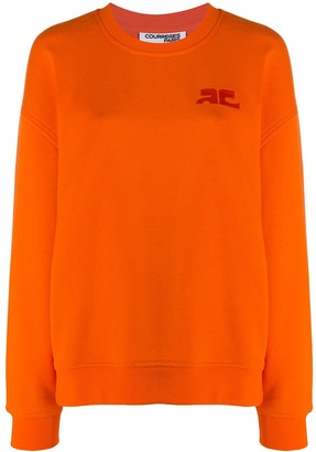 Courreges Logo-Embroidered Sweatshirt