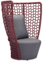 ZUO Faye Bay Beach Outdoor Chair in Red/Grey