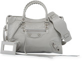 Balenciaga Classic Silver City Nickel Small Tote Bag