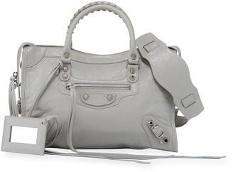 Balenciaga Classic Silver City Nickel Small Tote Bag