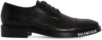 Balenciaga Leather Lace-Up Derby Shoes