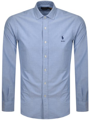 Ralph Lauren Oxford Long Sleeve Shirt Blue