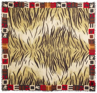 Etro Tiger-print modal and cashmere scarf