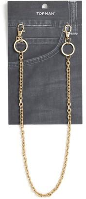 Topman Gold Wallet Chain*