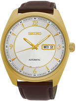 Seiko Recraft Mens Gold-Tone Champagne Automatic Bracelet Watch