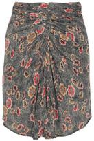 Etoile Isabel Marant Sevan Floral-Print Crepe De Chine Skirt