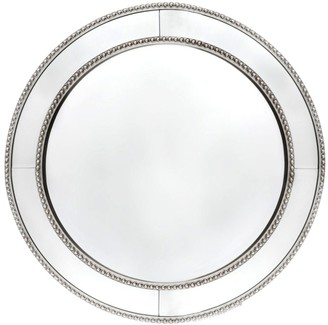 Cafe Lighting Zeta Round Wall Mirror Antique Silver