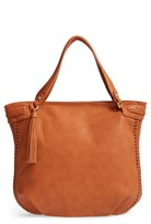 Sole Society Tara Braided Faux Leather Hobo - Brown