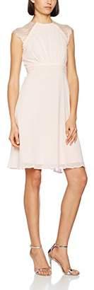Elise Ryan Women's Crochet Lace Trim Midi Midi Sleeveless Dress,(Manufacturer Size: 44)