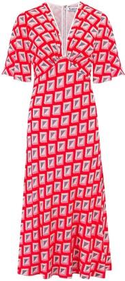 Libelula Tamara Dress Red Star Diamond Print