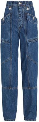 Etoile Isabel Marant Neko High-Rise Cargo Jeans