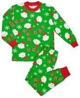 Sara's Prints Boys' Loose Fit Santa Print Pajama Set - Sizes 2-7