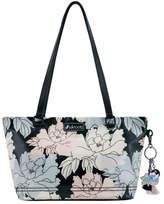 Sakroots Women's Artist Circle Small Satchel - Black Peony Print Casual Handbags