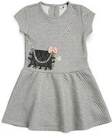 Petit Lem Girls 2-6x Textured Purse Accented Dress
