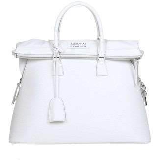Maison Margiela 5ac Hand Bag In Calf Leather Color Pink White