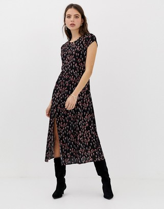 Free People Corrie disty floral print maxi dress