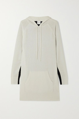 Madeleine Thompson Attis Two-tone Cashmere Hoodie - White