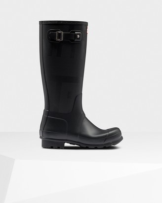 Hunter Men's Original Tall Exploded Logo Texture Wellington Boots