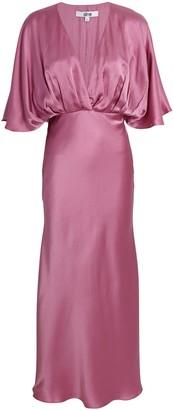 Aiifos Isabelle Silk Midi Dress