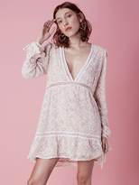 For Love & Lemons Sweet Disposition Swing Dress in Ivory/Floral