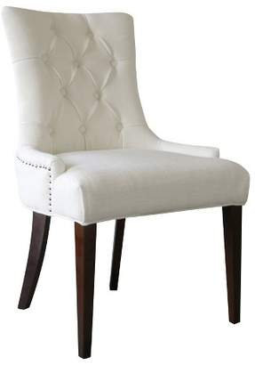 Comfort Pointe Madelyn Snow White Tufted Chair