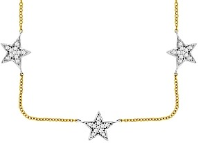 Bloomingdale's Diamond Star Collar Necklace in 14K Yellow Gold & 14K White Gold, 0.35 ct. tw. - 100% Exclusive