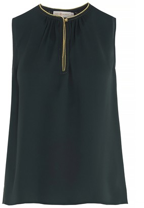 Tory Burch Contrast-Trim Sleeveless Top