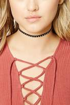 Forever 21 FOREVER 21+ Studded Faux Suede Choker