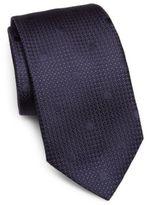 Ike Behar Tonal Dot Silk Tie