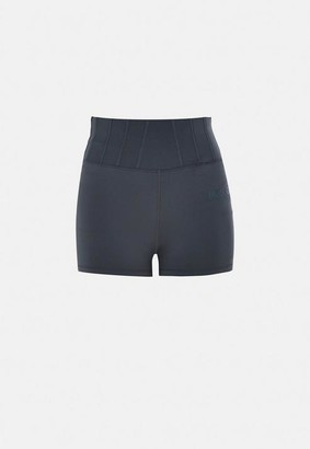 Missguided Size Grey MSGD Corset Detail Gym Booty Shorts