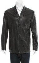 Jil Sander Leather Notch-Lapel Jacket