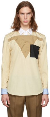 Burberry Beige Contral Collar Shirt
