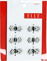 Elle Black with Stones Mini Hair Clip Set
