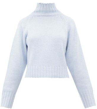 Proenza Schouler Roll-neck Cashmere Sweater - Womens - Mid Blue