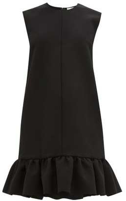 MSGM Ruffled Cady Mini Dress - Womens - Black