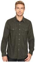 True Grit Sueded Tweed Long Sleeve Two-Pocket Shirt