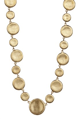 Rivka Friedman 18K Gold Clad Concave Alternating Pebble Necklace