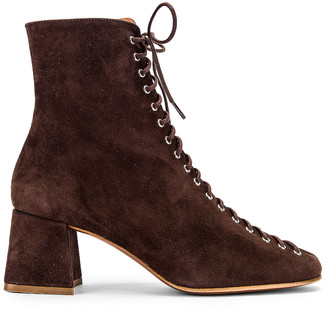 BY FAR Becca Suede Boot in Brown | FWRD