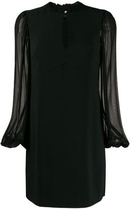 Pinko Sheer Sleeve Shift Dress