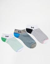 Pringle Stripe Sneaker Socks In 3 Pack