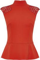 Karen Millen Shoulder Braid Top - Red