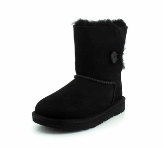 UGG Kid's Female Bailey Button II Classic Boot Black 4 (UK)