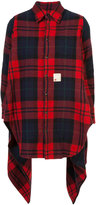 DSQUARED2 checked long back shirt