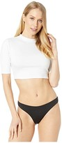 Roxy Crop 3/4 Rashguard (Bright White) Women's Swimwear