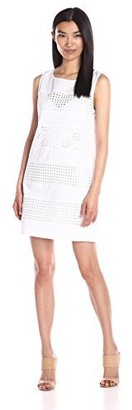 Plenty by Tracy Reese Women's Eyelet Combo Shift Dress