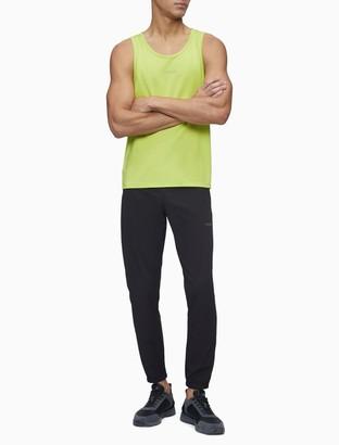 Calvin Klein Solid Logo Sleeveless Tank Top