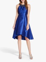 Adrianna Papell Mikado High Low Party Dress, Deep Blue/Gunmetal